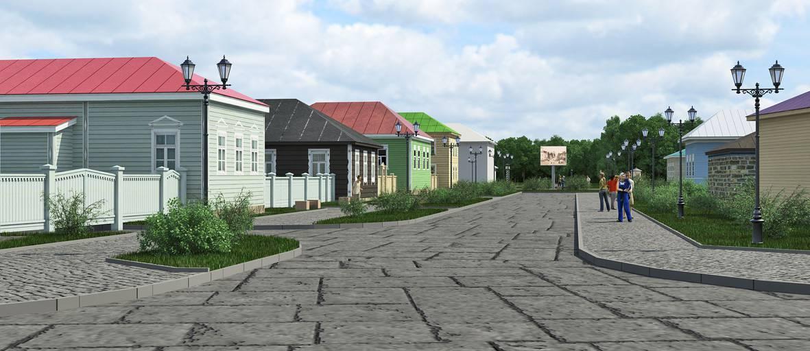 Прогулка по старому городу, которого еще нет
