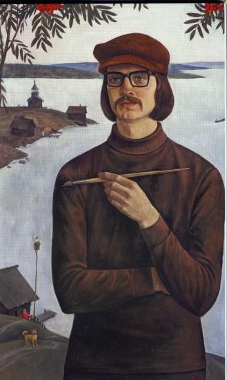 Валентин Чекмасов. Дмитрий Москин– студент ЛВХПУ. 1974 год