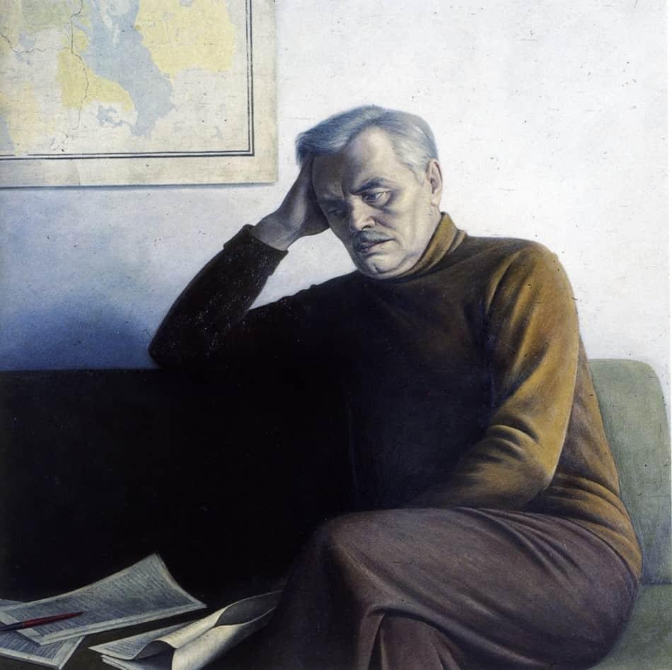 Валентин Чекмасов. Писатель Дмитрий Гусаров. 1983 год