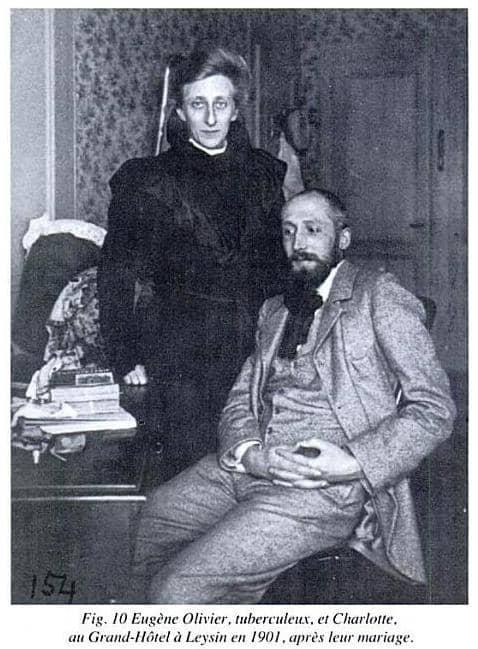Шарлотта фон Майер (Оливье) в день свадьбы, 1901 год