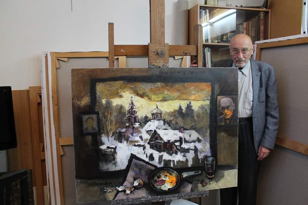 В гостях у Оскара Рабина