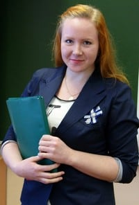 Алина Котович на работе