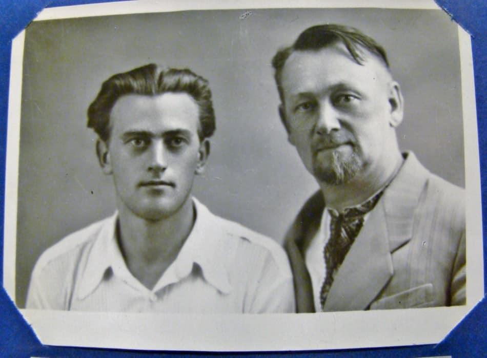 Игорь Алексеевич Батманов с сыном Александром