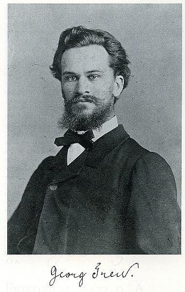 Георг Трей в молодости и его автограф .С сайта de.wikipedia.org