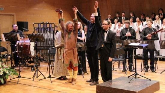 Кирилл Гуреев (в центре), Николай Маташин, Игорь Соловьёв и Надежда Быкадорова