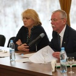 В. Улич и А. Нелидов на заседании совета