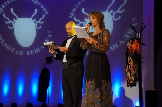 Ведущие церемонии Олег Липовецкий и Виктория Федорова