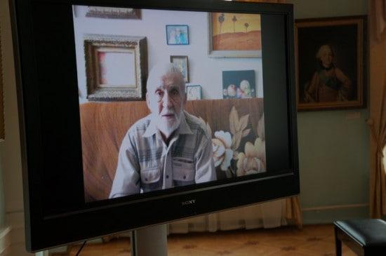 Видеообращение Владимира Иваненко к гостям вернисажа
