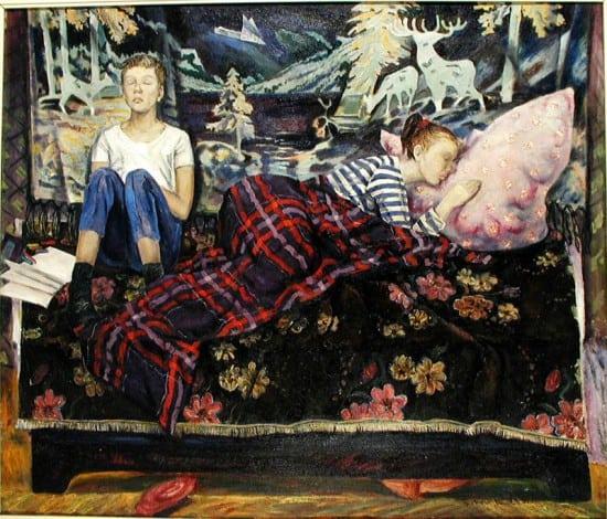Лев Бурин. Сон. Мои дети. 1990 год