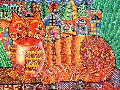 Владимир Фомин.  Рыжий кот.  Из серии «Флорида»