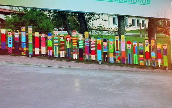 Так выглядит ограждение одной из детских площадок в Нарве, построенной благодаря и с участием членов городского сообщества
