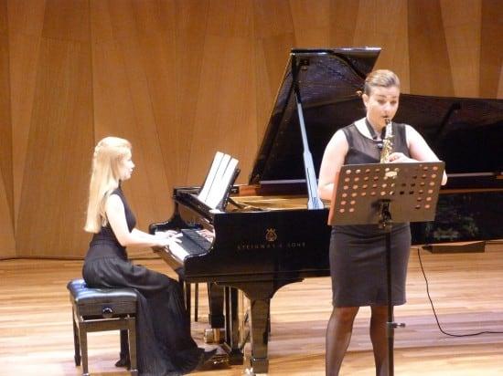 Василиса Попопа (саксофон), Наталия Гулакова (фортепиано). Фото Наталии Шумаковой