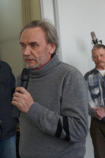 Художник и наставник молодых Аркадий Иванович Морозов, один из организаторов графической мастерской