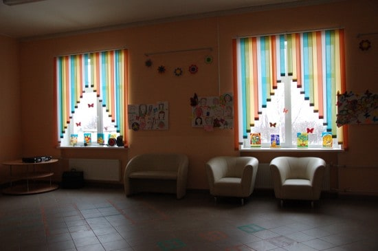 В холле учебного корпуса