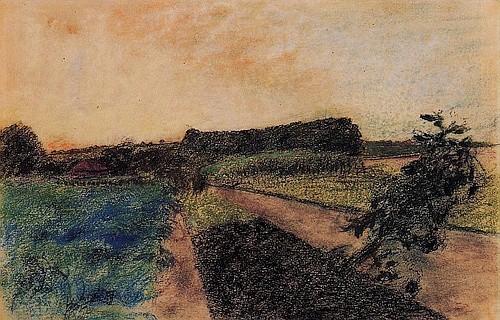 Эдгар Дега. «Пейзаж на Орне» (ок. 1884)
