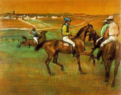 Эдгар Дега. «Скаковые лошади» (1885–1888)