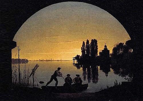 Карл Фридрих Шинкель. «Берега Шпрее близ Штралау» (ок. 1817)