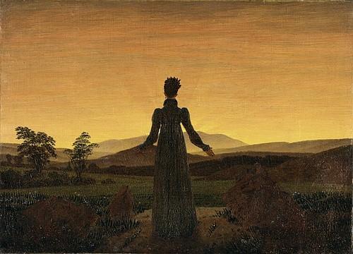 Каспар Давид Фридрих. «Женщина. Восход солнца» (1818)