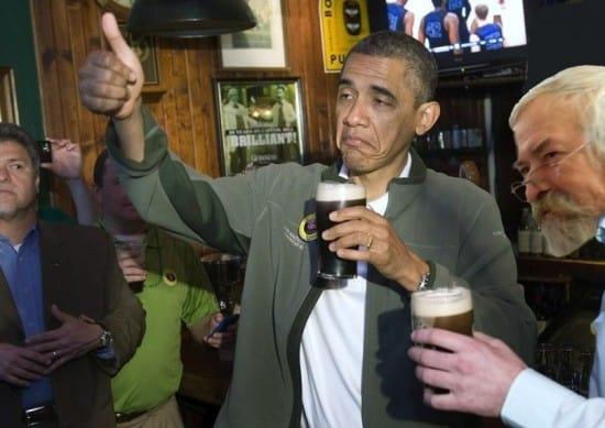 Салтуп с американским президентом Бараком Обама. Фотомонтаж Сергея Кияницы. Салтуп юмор любил
