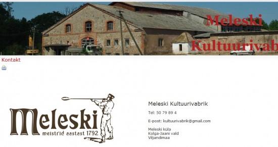 В августе 2011 года старая фабрика в Мелешках преобразилась в культурный центр. http://www.meleski.eu/