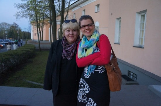 Министр культуры Елена Богданова и композитор Анастасия Сало