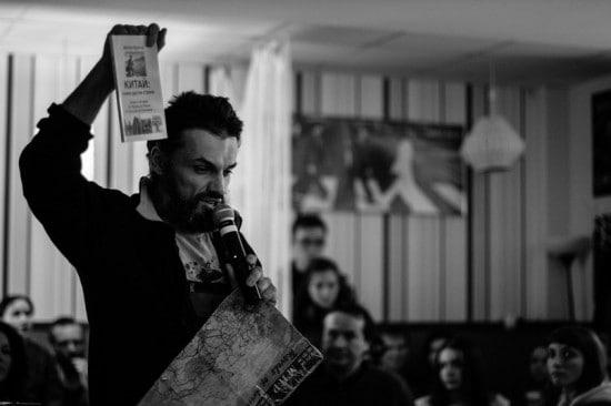 Антон Кротов на встрече в Петрозаводске. Фото vk.com/event69218058