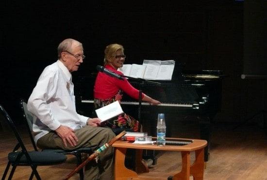 Евгений Евтушенко и Анастасия Сало. Фото Николая Абрамова