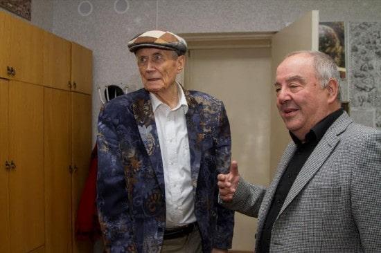 Евгений Евтушенко и Михаил Гольденберг. Фото ВиталияГолубева