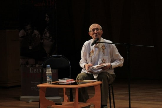 Евгений Евтушенко в Петрозаводске, июнь 2014 года. Фото Михаила Мешкова