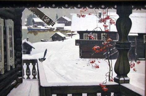 Б. Поморцев «Снег выпал». 1975