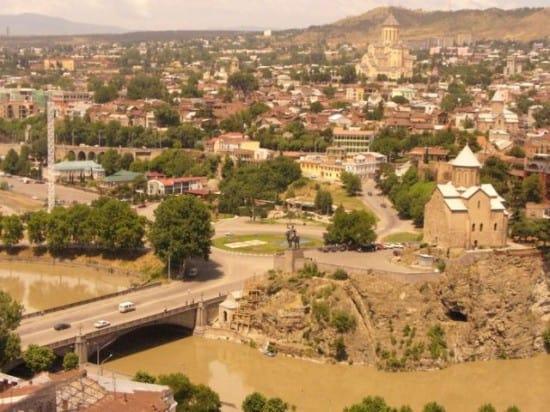 Вид на Тбилиси с Мтацминды