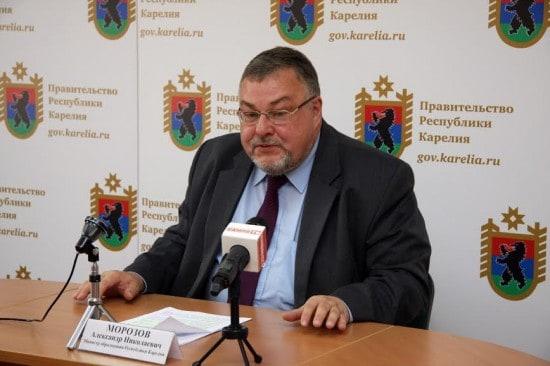Министр образования Карелии Александр Морозов
