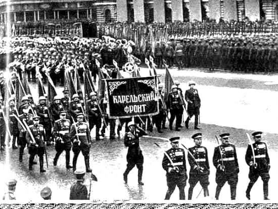Cводный полк Карельского фронта на Параде Победы