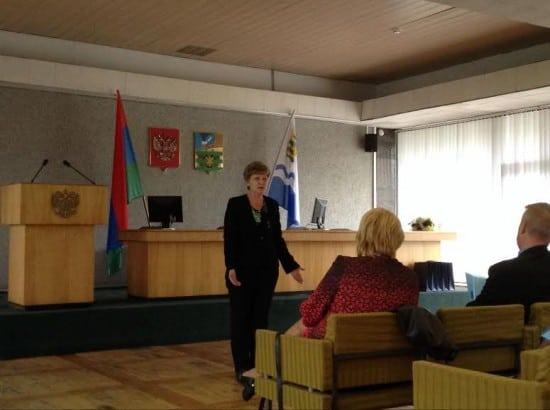 На конференции выступила Марина Зверева, уполномоченный по правам ребенка в Карелии