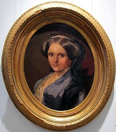 Неизвестный художник с оригинала И. Макарова. Портрет А.А. Андро  (Аннеты Олениной)