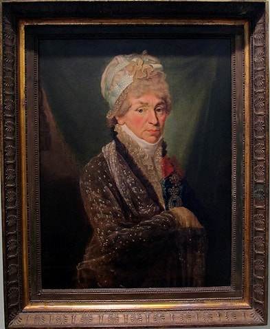 Неизвестный художник. Портрет неизвестной дамы с гитарой (Е.П. Демидовой). Первая половина 1800-х.  В 1797 году она вышла замуж за представителя одной из самых известных и богатейших российских семей  – Григория Александровича Демидова.