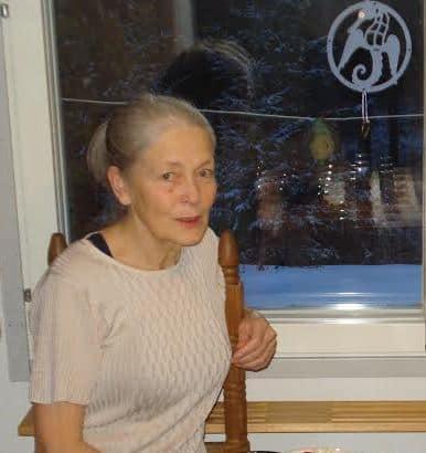 Ирина Гурвич. У себя дома в Финляндии. 2014 год. Фото А. Островского