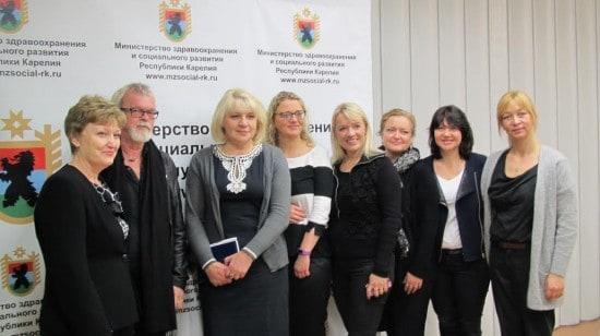Гости из северных стран с петрозаводскими участниками конференции по защите детей