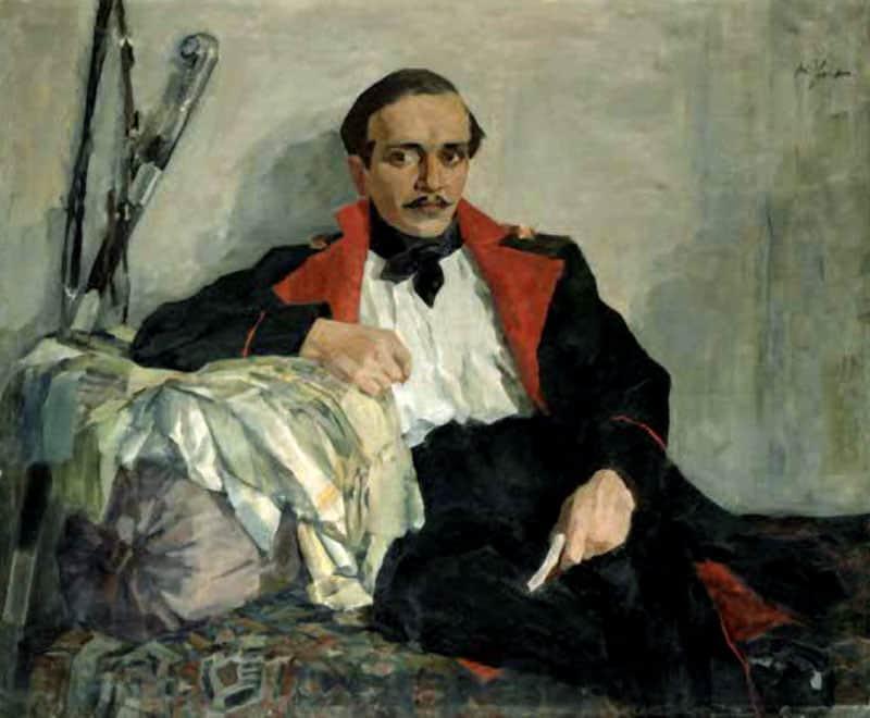 Николай Ульянов. Портрет Михаила Лермонтова. 1930-е годы
