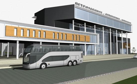 Проект реконструкции здания автовокзала архитектора Е. Таева, ставший победителем в одной из номинаций