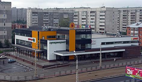 Здание торгового центра на ул. Чапаева. Архитектор А. Скрипицын