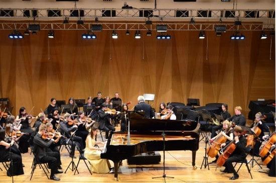 Ксения Лубянцева и симфонический оркестр Петрозаводской консерватории