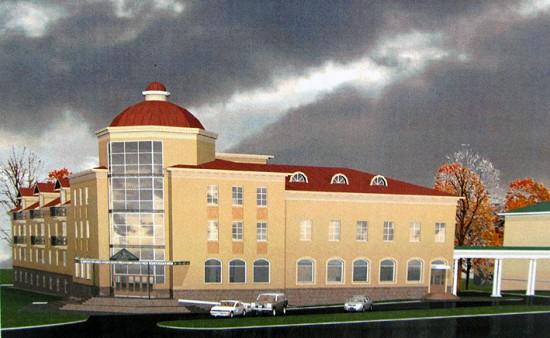 А этот проект Э. Андреева так и не воплотился в жизнь – гостиница на площади им. Кирова