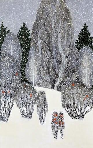 Екатерина Пехова.  «Снегопад. Почти как в Муми-дален» из квадриптиха «Мой любимый холм»