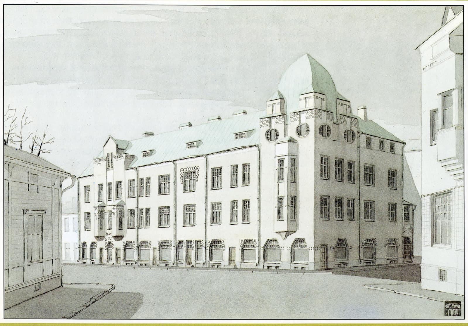 Дом купца Сийтойнена. Построен в 1907 году