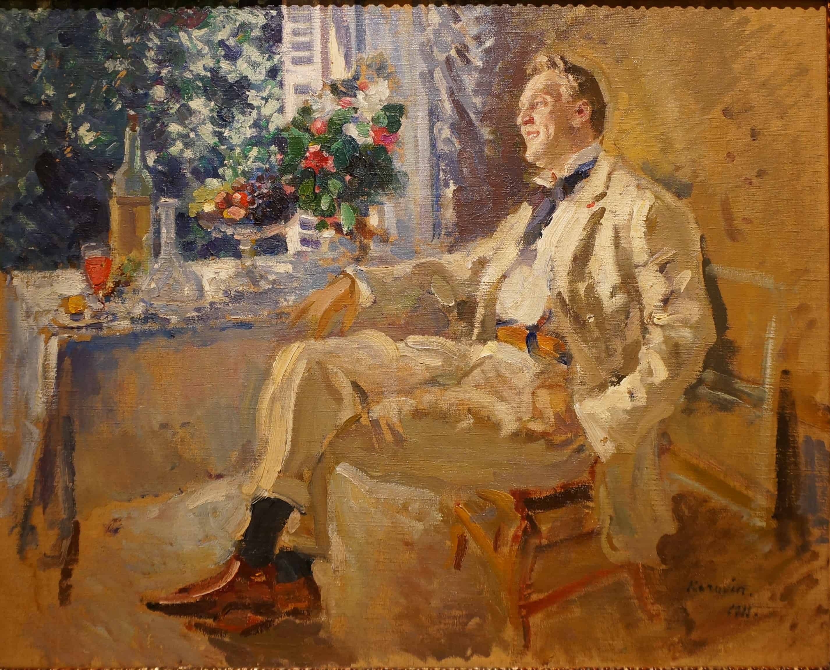 Константин Коровин. Портрет Ф.И. Шаляпина