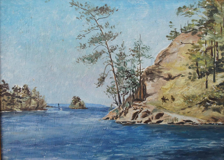 О. Валаам. Монастырская бухта. 1988