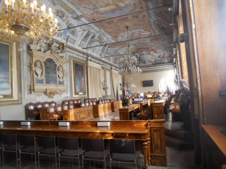Болонья. Зал заседаний муниципалитета
