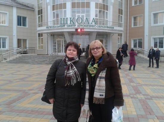 Л.П Ряппиева, З.Б. Ефлова  в Татановской школе Тамбовской области