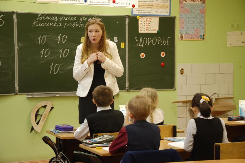 Анна Лесковец с закрепляла с третьеклассниками умножение